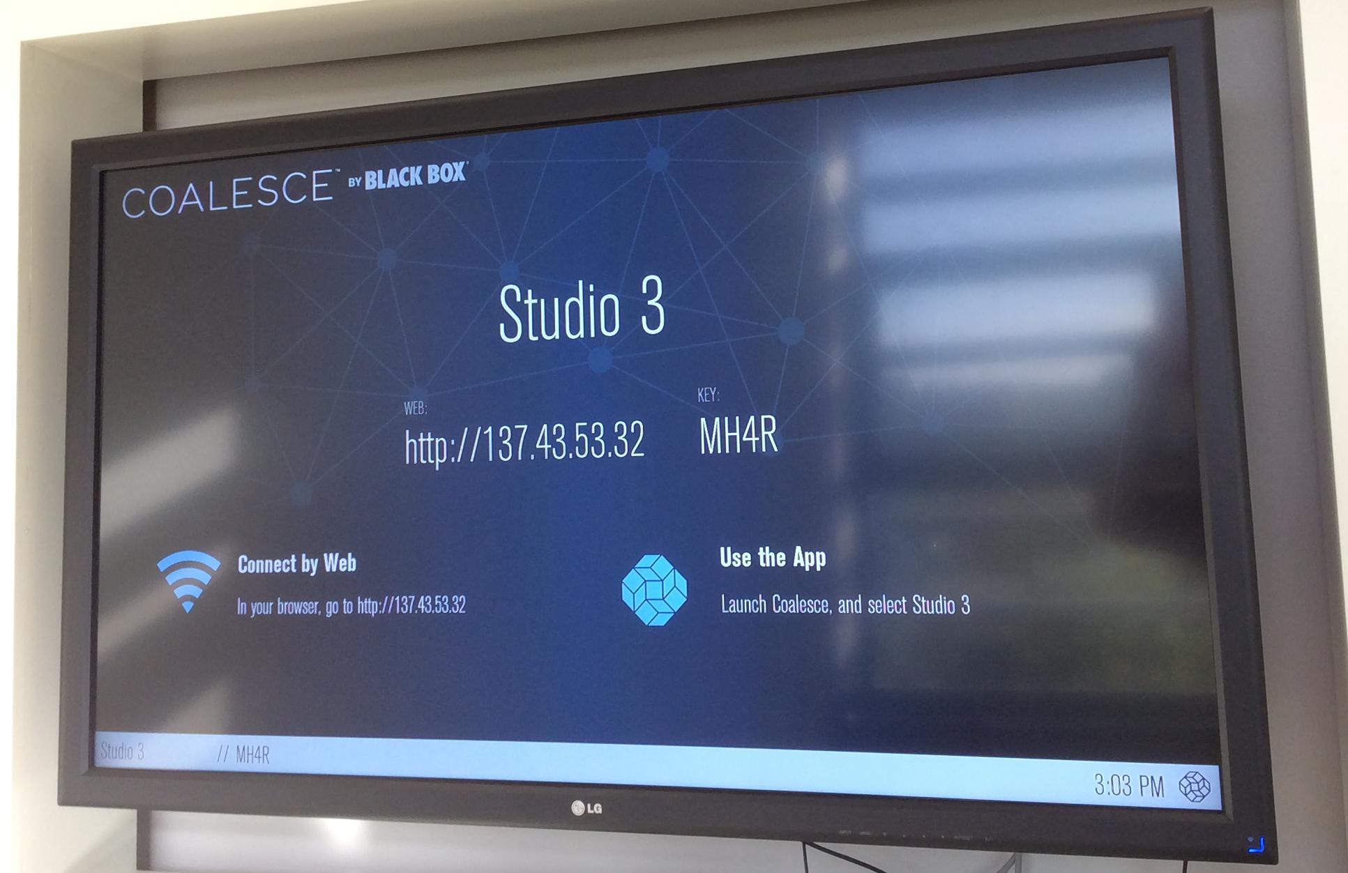 Wireless presentation - screen