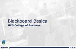 Blackboard Intro