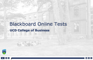 Blackboard Tests