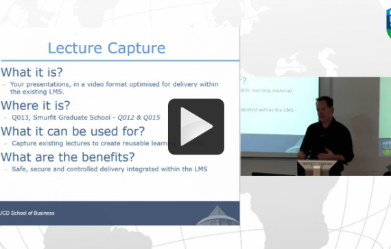 Ed Tech Showcase: Lecture Capture