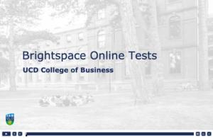 brightspace online tests